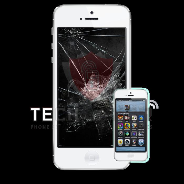 iPhone 5 White LCD-wm